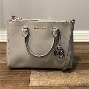Stone Grey Leather MICHAEL KORS bag